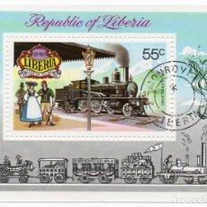 Sellos: LIBERIA/1976/MNH/CTO/SC#C197/LOCOMOTORA A VAPOR / TRENES. Lote 218840798