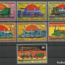 Sellos: GUINEA ECUATORIAL LOTE DE SELLOS TEMATICA TRENES- TRAINS- TREN- FERROCARRIL- RAILWAYS. Lote 219006735