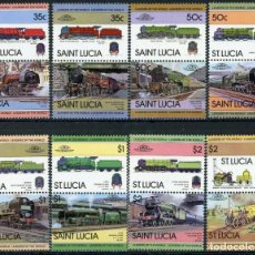 Sellos: SANTA LUCIA 1983 IVERT 598/613 *** LOCOMOTORAS (I) - TRENES. Lote 219300118