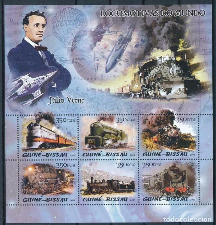 GUINEA BISSAU 2005 IVERT 1920/5 *** TRENES - LOCOMOTORAS DE VAPOR (Sellos - Temáticas - Trenes y Tranvias)