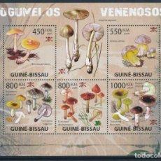 Sellos: GUINEA BISSAU 2009 MICHEL 4297/301 *** FLORA - SETAS VENENOSAS - CHAMPIÑONES. Lote 220069645