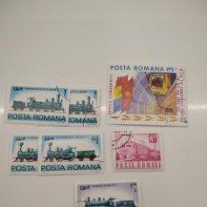 Sellos: 5 SELLOS TRENES RUMANIA POSTA ROMANA. Lote 221786871