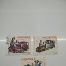 Sellos: 3 SELLOS TRENES MOZAMBIQUE. Lote 221844911