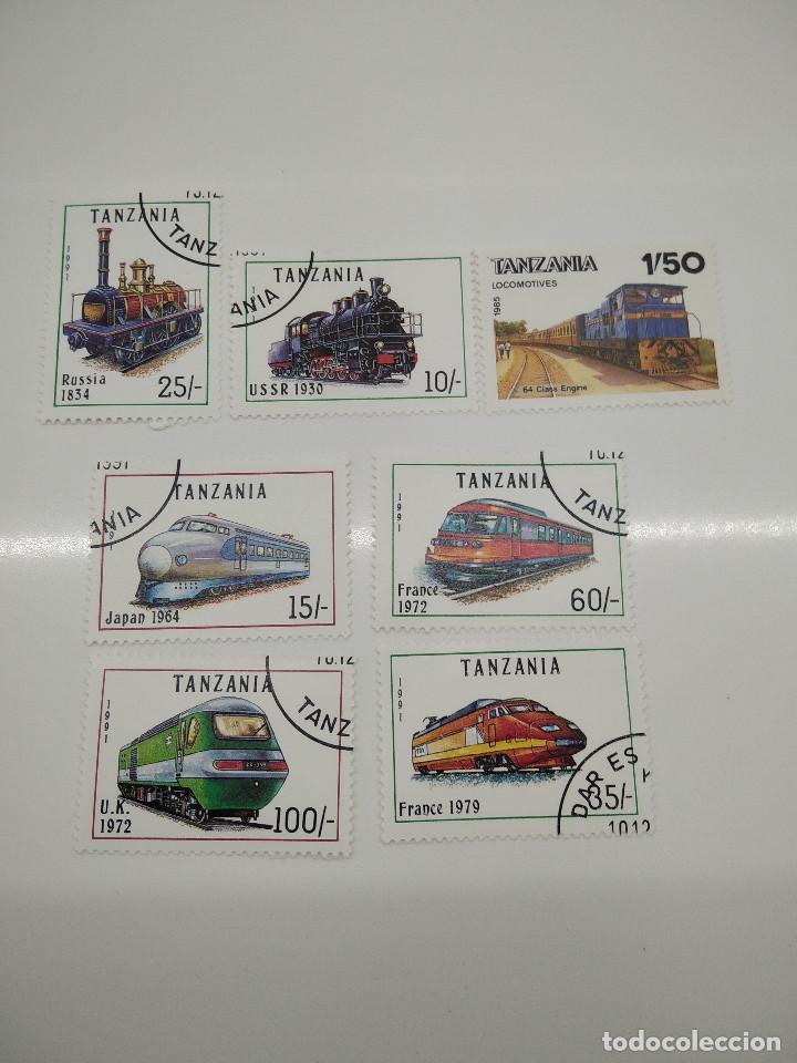 7 SELLOS TRENES TANZANIA (Sellos - Temáticas - Trenes y Tranvias)