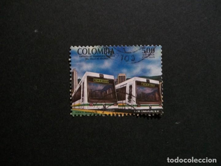 /24.10/-COLOMBIA-1996-500 P. Y&T 1053 SERIE COMPLETA EN USADO/º/-TRANVIAS (Sellos - Temáticas - Trenes y Tranvias)