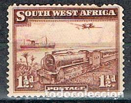 NAMIBIA (AFRICA DE SUDOESTE, ADMINISTRACION DE SUDAFRICA Nº 181, TRANSPORTE DEL CORREO, GOMA INTACTA (Sellos - Temáticas - Trenes y Tranvias)