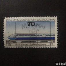 Sellos: ALEMANIA FEDERAL 1975. TRANSRAPID MAGLER TRAIN (MODEL)YT:DE 688. Lote 237209320