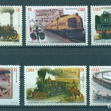 Sellos: 6083 CUBA 2016 MNH TRAINS. Lote 226310526