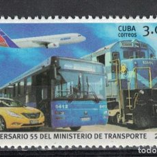 Sellos: 6131 CUBA 2016 MNH THE 55TH ANNIVERSARY OF MITRANS - CUBAN MINISTRY OF TRANSPORTATION. Lote 226310791