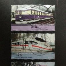 Sellos: ALEMANIA FEDERAL 2006. WELFARE: TRAINS IN GERMANY. YT:DE 2383, YT:DE 2385,YT:DE 2384,. Lote 237208275