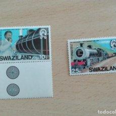 Sellos: SELLO NUEVO FERROCARRIL TRENES - SWAZILAND 10 Y 25C. Lote 228014106