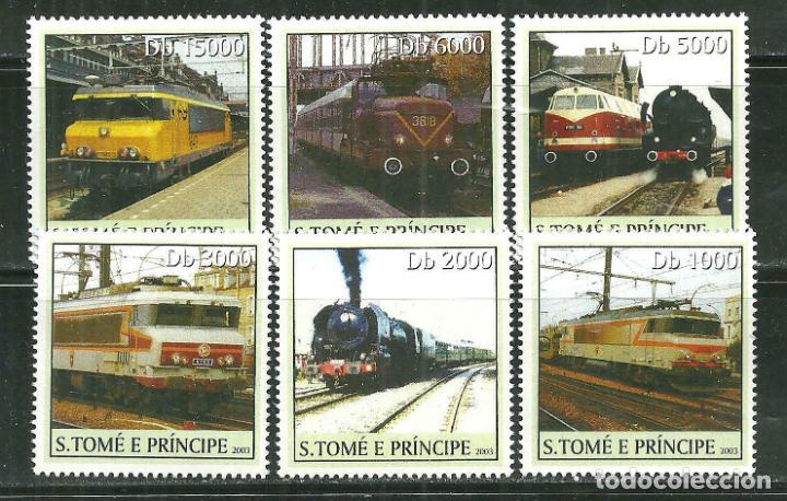 SANTO TOME & PRINCIPE 2003 IVERT 1566/71 *** TRENES - LOCOMOTORAS (Sellos - Temáticas - Trenes y Tranvias)