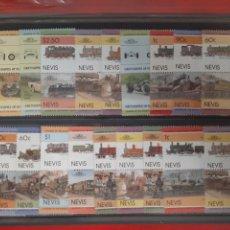 Sellos: LOTE 40 SELLOS TRENES Y COCHES NUEVOS CON GOMA ALGUNO REPETIDO. Lote 228557345