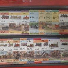 Sellos: LOTE 40 SELLOS TRENES Y COCHES NUEVOS CON GOMA ALGUNO REPETIDO. Lote 228557555