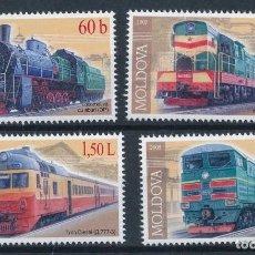 Sellos: MOLDAVIA 2005 IVERT 438/41 *** TRENES - LOCOMOTORAS. Lote 229200705