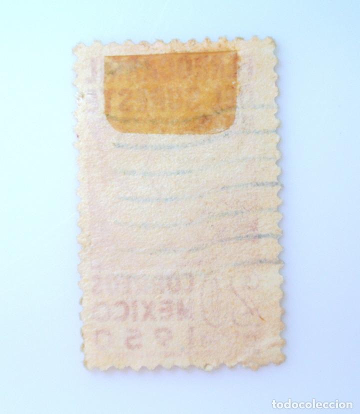 Sellos: SELLO POSTAL MÉXICO 1950, 20 cts, INAUGURACION FERROCARRIL DEL SURESTE, USADO - Foto 2 - 232228750