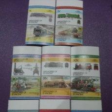 Timbres: SELLOS GRANADINAS DE SAN VICENTE NUEVOS/1984/LOCOMOTORAS/TRENES/FERRICAERILES/ESTACIONES/TRANSPOR. Lote 233449210