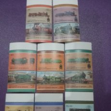 Sellos: SELLOS ISLA UNION (G/S.V) NUEVOS/1987/LOCOMOTORAS/TRENES/FERROCARRILES/MAQUINA/VAPOR/ESTACION/ANTIGU. Lote 233542445