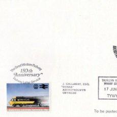Sellos: SOBRE FERROCARILES PRIMER DIA - 1985 - VER FOTO. Lote 234745730