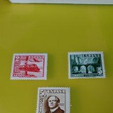 Sellos: ESPAÑA 1948 FERROCARRIL TRENES AVIÓN TRASPORTES EDIFIL 1937/9 NUEVA ** FILATELIA COLISEVM. Lote 236303665