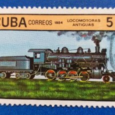 Sellos: USADO. CUBA. TEMÁTICA: TRENES. FERROCARRIL. SCOTT: 2553. AÑO 1984. LOCOMOTORAS A VAPOR. Lote 236767420