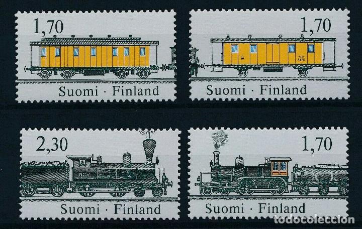 FINLANDIA 1987 IVERT 981/4 *** 125º ANIVERSARIO DE LOS FERROCARRILES FINLANDESES - TRENES (Sellos - Temáticas - Trenes y Tranvias)