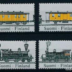 Sellos: FINLANDIA 1987 IVERT 981/4 *** 125º ANIVERSARIO DE LOS FERROCARRILES FINLANDESES - TRENES. Lote 239454875
