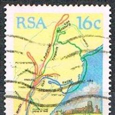 Sellos: SUDAFRICA Nº 801, 150 ANIVº DE LA GRAN MIGRACIÓN (AFRICANERS SALIENDO DE LA ZONA INGLESA, USADO. Lote 240861655