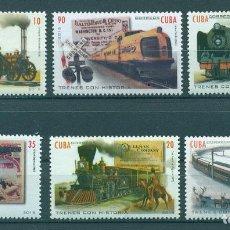 Sellos: 🚩 CUBA 2016 TRAINS MNH - RAILWAYS, THE TRAINS, LOCOMOTIVES. Lote 241337995
