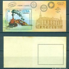 Sellos: CUBA 1980 LOCOMOTIVES - THE 7TH NATIONAL STAMP EXHIBITION MNH - RAILWAYS, THE TRAINS, LOCOMOTIVES. Lote 241338800