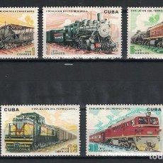 Sellos: CUBA 1975 EVOLUTION OF RAILWAYS MNH - RAILWAYS, LOCOMOTIVES. Lote 241342190