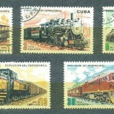 Sellos: CUBA 1975 EVOLUTION OF RAILWAYS U - RAILWAYS, THE TRAINS. Lote 241342200