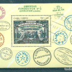 Sellos: CUBA 1987 THE 150TH ANNIVERSARY OF THE CUBAN RAILWAY U - STAMPS ON STAMPS, RAILWAYS. Lote 241344890