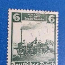 Sellos: ALEMANIA. IMPERIO. Nº YVERT 539. AÑO 1935. CENTENARIO FERROCARRILES ALEMANES.. Lote 244460985