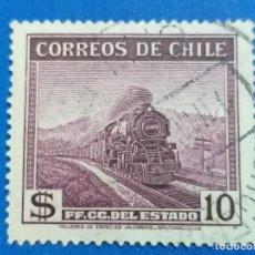 Sellos: USADO. CHILE. AÑO 1940. FERROCARRIL DEL ESTADO. YVERT 177. Lote 244461400
