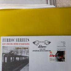 Sellos: ESPAÑA 1999 SFC 10 EDIFIL 3629 USADO FERROCARRILES METRO BARCELONA FILATELIA COLISEVM. Lote 244796945