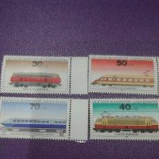Sellos: SELLO ALEMANIA R. FEDERAL NUEVO/1975/PRO/JUVENTUD/TRENES/LOCOMOTORAS/MAQUINA/VAPOR/FERROCARRIL/TRANS. Lote 245572400