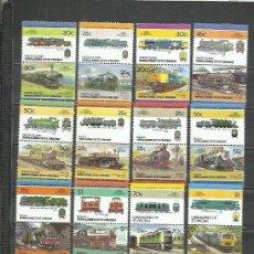 Timbres: R113E-LOTES SELLOS TRENES FERROCARRIL LOCOMOTORAS TRANVIAS,RAIL WAY COLONIAS INGLESAS, BEQUIA,SAN VI. Lote 254042930
