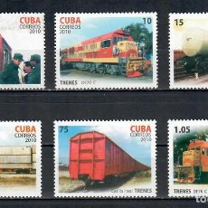 Sellos: ⚡ DISCOUNT CUBA 2010 THE 35TH ANNIVERSARY OF THE FIRST FAST TRAIN MNH - THE TRAINS, LOCOMOTI. Lote 255623440