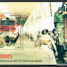 Sellos: ⚡ DISCOUNT CUBA 2010 THE 35TH ANNIVERSARY OF THE FIRST FAST TRAIN MNH - THE TRAINS, FIDEL CA. Lote 255623465