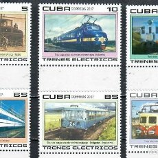 Sellos: ⚡ DISCOUNT CUBA 2007 ELECTRIC TRAINS MNH - THE TRAINS, LOCOMOTIVES. Lote 255624615