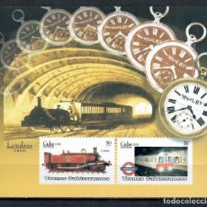 Sellos: ⚡ DISCOUNT CUBA 2008 SUBWAYS - LONDON MNH - THE TRAINS, METRO. Lote 255624930