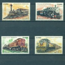 Sellos: ⚡ DISCOUNT CUBA 1975 EVOLUTION OF RAILWAYS NG - THE TRAINS, LOCOMOTIVES. Lote 255658150