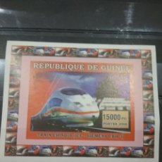 Sellos: SELLO R. GUINEA NUEVO (SIN DENTAR)/2006/TRENES/LOCOMOTORAS/TRANVIA/FERROCARRILES/TRANSPORTES/CHINOS. Lote 256052150