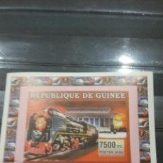 Sellos: SELLO R. GUINEA NUEVO (SIN DENTAR)/2006/TRENES/LOCOMOTORAS/TRANVIA/FERROCARRILES/TRANSPORTES/CHINOS. Lote 256052295