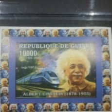 Sellos: SELLO R. GUINEA NUEVO (SIN DENTAR)/2006/TRENES/LOCOMOTORAS/FERROCARRILES/TRANSPORTES/ALBERT/EINSTEIN. Lote 256052565