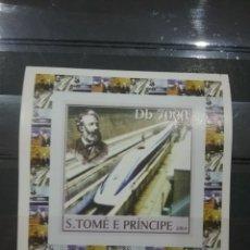 Sellos: SELLO S. TOME PRINCIPE NUEVO(SIN DENTAR)/2004/TRENES/LOCOMOTORAS/FERROCARRILES/TRANSPORTES/ELECTRICO. Lote 256052850