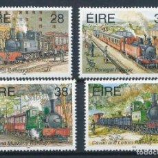 Sellos: IRLANDA 1995 IVERT 889/92 *** TRANSPORTES EN IRLANDA (V) - FERROCARRILES - TRENES. Lote 257489315