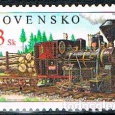 Sellos: ESLOVAQUIA 532, TREN U 34.901 DE 1909, NUEVO ***. Lote 257507070