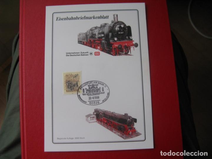 ALEMANIA, 1998, DOCUMENTO FILATÉLICO TEMA FERROCARRILES. (Sellos - Temáticas - Trenes y Tranvias)